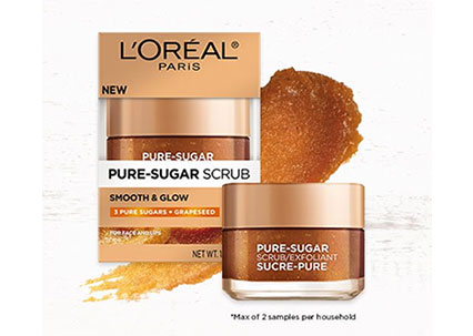 FREE LOreal Pure-Sugar Scrub Sample