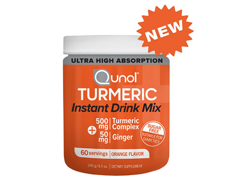 free qunol turmeric instant drink mix sample