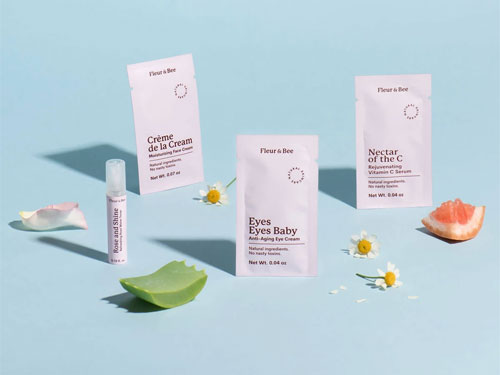 free skincare travel-sized sample kit