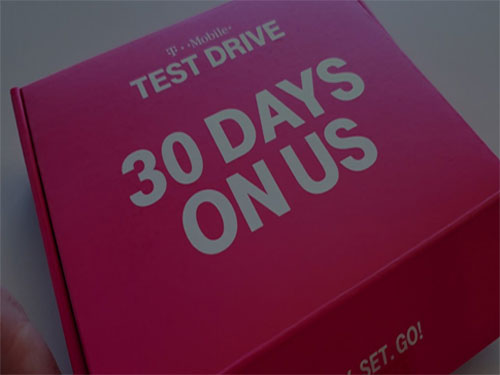 t-mobile test drive deal with free 30 days data & mobile hotspot