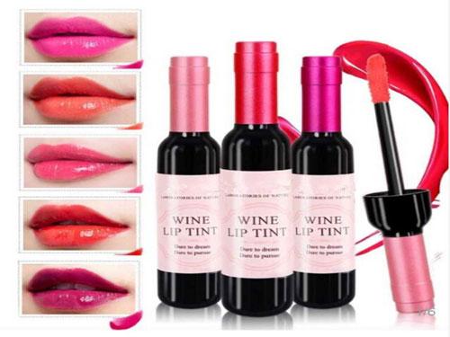 free liquid lipstick wine lip tint sample