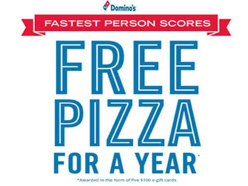 free dominos pizza for a year