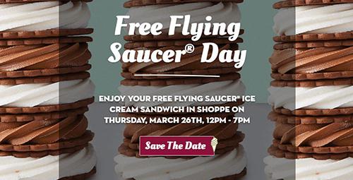 free flying saucer ice cream