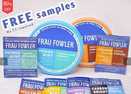 free frau flower tooth & gum powder