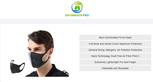 oxybreath pro face mask