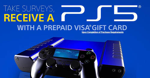 take survey and win PS5