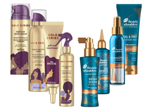 free head & shoulders and pantene products to try