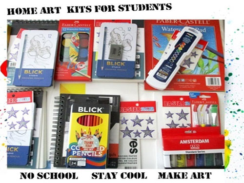 free home art kits for students from dreaming zebra